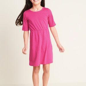 Girls 3/4 knit swing dress